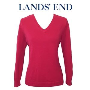 Lands End | Women's V Neck Sweater | Medium